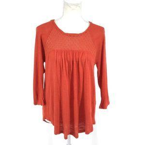 Lucky brand autumn orange long sleeve top small